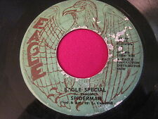 RARE REGGAE 45 - SPIDERMAN - EAGLE SPECIAL / JOY WHITE - DREAD OUT DE