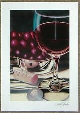 """SCOTT JACOBS """"GRAPE PERFECTION"""" SERIOLITHOGRAPH ~ SIGNED ~ READY TO FRAME ~ COA"""