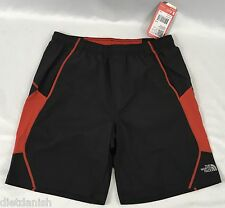 The North Face Men's Athletic Voltage Shorts Drawstrings Black Red NWT Medium