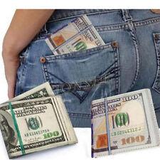 US Dollar Men Leather Wallet 100 USD Billfold Credit Card Holder Coin Purse Lot