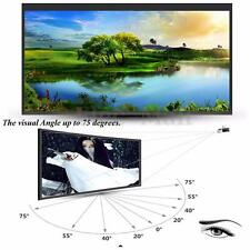 "Portable 60"" Inch 16:9 Fabric Matte Projector Projection Screen Black White"