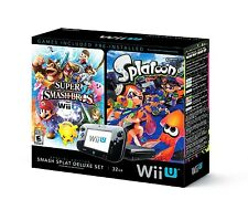Nintendo Wii U Special Edition Smash Splatoon Deluxe Set (Black, 32GB Console)