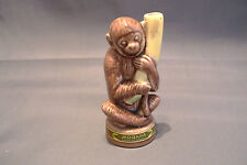 Vintage Mobana Figural Liqueur Bottle Monkey and Banana Miniature Portugal Empty