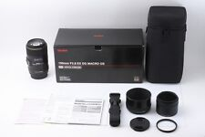 [MINT!!!] Sigma MACRO 105mm F2.8 EX DG OS HSM w/Hood,Box,Porch,Manual,Strap