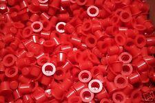 Caplugs T-2X PE-LD01 Red Mini Tapered Caps (Lot of 10)
