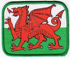 Aufnäher + Fußball + Wales + Wappen #2 + Nur 1x + Sammler + 8,5x7,0 cm +