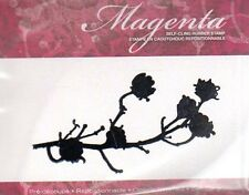 New CLING MAGENTA Rubber Stamp Ellie knol blossoming branch silhouette free us s