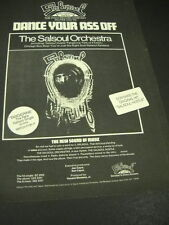 Dance Your Ass Off with The SALSOUL ORCHESTRA Dynamic 1975 PROMO DISPLAY AD mint