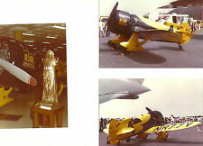 """SET OF 3: GEE BEE LOT #29 - 4"""" X 6""""  COLOR AIRPLANE PRINTS"""