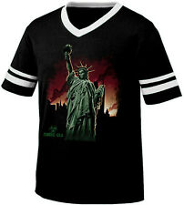 Statue of Liberty Zombie USA Plague Death Horror Scary Retro Ringer T-shirt