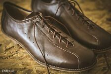 Classic Road cycling shoes, natural leather, handmade, vintage style