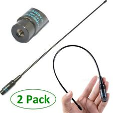 2 Pack NA-771 Dual Band SMA Male Flexible Whip Handheld Antenna For Baofeng UV5R
