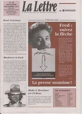 GIRAUD (BLUEBERRY)/FRED. Périodique La Lettre de Dargaud #38 nov dec 1997