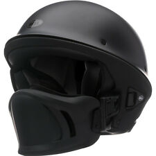 Bell Rogue Flat Matte Black Motorcycle Harley Chopper Bobber Half Helmet LARGE