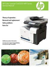 HP Color LaserJet CM3530 Service Manual(Parts & Diagrams)