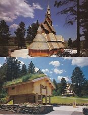 2 Postcards : CHAPEL IN THE HILLS, Rapid City, South Dakota - Awesome!
