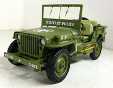 Triple9 1/18 Scale 1941 Willys Jeep Military Police US Army diecast model car