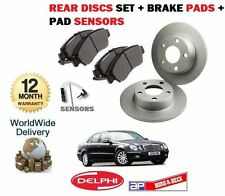 FOR MERCEDES E CLASS E270CDi 2002-2005 REAR BRAKE DISCS SET + PADS + SENSORS KIT