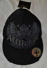 Affliction Black Cap Hat Size S/M Retail $45 NWT Free Shipping MMA UFC