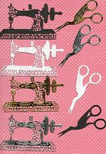 TATTERED LACE VINTAGE SEWING MACHINE & SCISSOR  DIE CUTS - TOPPER-/MOTHER