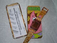 Estate Spongebob Squarepants Orange Plastic PATRICK Digital Watch in Metal Box