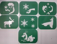 Pack of 7 Frozen-1 Vinyl Glass Etching Stencils, Glitter Glass stencils