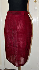 NEW Lola May Burgundy colour Skirt UK size 12 or M