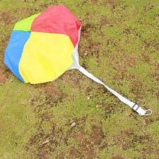 Diameter 25 inch Rainbow Color Kids Outdoor Game Toy Parachute with Carabiner