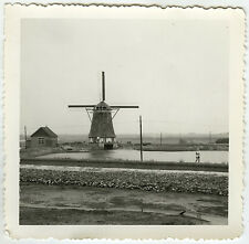 PHOTO ANCIENNE - MOULIN À VENT HOLLANDE - WINDMILL PAYS BAS - Vintage Snapshot