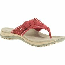 Earth Spirit US Shoe Women's Size 8 Red Leather Sandal Comfort w/ Arch Support