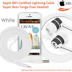 3.5mm Earbuds Headphone Earphone Headset Mic + Certified Lightning to USB Cable