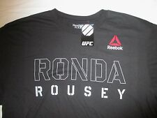 Mens XL Reebok RONDA ROUSEY Black UFC Fighter STENCIL T-SHIRT MMA, Crossfit NWT