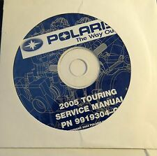 2005  POLARIS SNOWMOBILE TOURING SERVICE MANUAL CD P/N 9919304-CD (709)