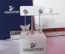 SWAROVSKI Crystal TINKERBELL WINGS & STUD Earrings - Swan Hallmarked - GENUINE