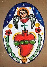 Sacred Heart with angel,  Sagrado Corazon,  Retablo,Santo,  Valentine