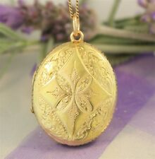 Beautiful ANTIQUE Yellow Gold PHOTO LOCKET - Guaranteed 9ct Gold