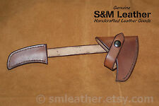 Brown Tomahawk Leather Sheath Mask Hawk for CRKT Columbia River Woods Kangee