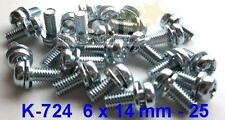 HONDA CM400 CM400T CX500 CB750 CB900 CARB MOUNTING SCREWS 6mm x 14mm PANHEAD