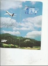 MARK MESSIER AUTOGRAPHED POLISH AIR LINE BOARDING PASS HolderJSA AUTH 169978