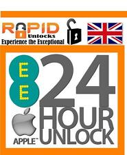 EE ORANGE VIRGIN IPHONE 5 5S 6 6S 6S PLUS UNLOCKING SERVICE UK CLEAN