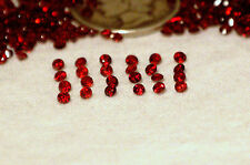 NATURAL RED GARNET 2MM ROUND LOT OF 24 LOOSE GEMSTONES UNTREATED INVEST