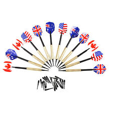 12Pcs Professional Safety Plastic Soft Tip Darts 36 Extra Tips Nice Flights Set