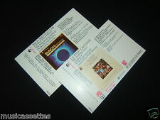 J.S. BACH 2 X NEW ZEALAND UNUSED INLAY CARDS