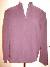 Purple Suede Jacket,Hip Length.Zip Front.Size 20.By Bonmarche.NEW WITH TAG