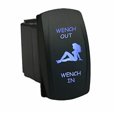 Rocker switch 6B53BM 12V WENCH OUT WENCH IN Laser Momentary LED blue 12V 20A