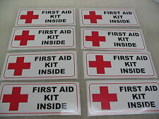 8 FIRST AID KIT INSIDE DECAL Sticker LOT 18 Wheeler Tow Truck Wholesale Special