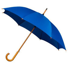 The Alrai Wood Hook Automatic Walking Umbrella for Wedding and Events - Blue