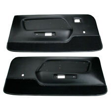 Mustang Door Panel Deluxe/Mach 1 Interior Black Pair 1969