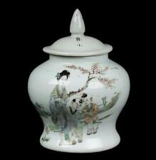 China 20. Jh. Deckelvase - A Chinese Famille Rose Baluster Vase - Chinois Cinese