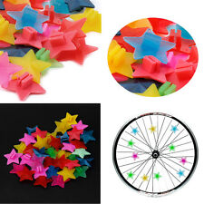 Star Beads Children 36pcs Bike Bicycle Wheel Spoke Kids Clip Colored Decoration